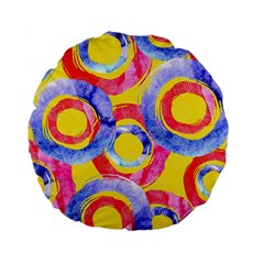 Blue And Pink Dream Standard 15  Premium Flano Round Cushions by DanaeStudio