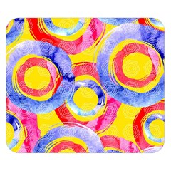 Blue And Pink Dream Double Sided Flano Blanket (small)  by DanaeStudio