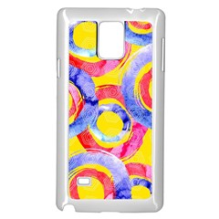 Blue And Pink Dream Samsung Galaxy Note 4 Case (white) by DanaeStudio