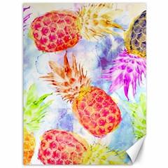 Colorful Pineapples Over A Blue Background Canvas 36  X 48   by DanaeStudio