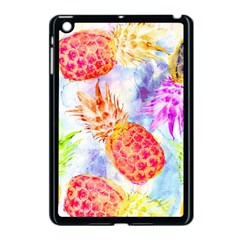 Colorful Pineapples Over A Blue Background Apple Ipad Mini Case (black) by DanaeStudio