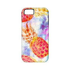 Colorful Pineapples Over A Blue Background Apple Iphone 5 Classic Hardshell Case (pc+silicone) by DanaeStudio