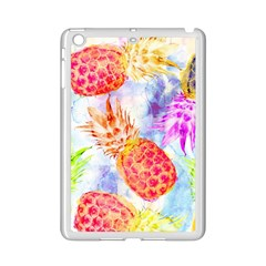 Colorful Pineapples Over A Blue Background Ipad Mini 2 Enamel Coated Cases by DanaeStudio