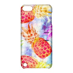 Colorful Pineapples Over A Blue Background Apple Ipod Touch 5 Hardshell Case With Stand by DanaeStudio