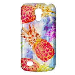 Colorful Pineapples Over A Blue Background Galaxy S4 Mini by DanaeStudio