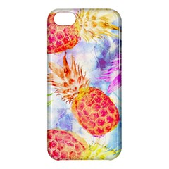 Colorful Pineapples Over A Blue Background Apple Iphone 5c Hardshell Case by DanaeStudio