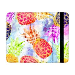 Colorful Pineapples Over A Blue Background Samsung Galaxy Tab Pro 8 4  Flip Case by DanaeStudio
