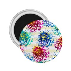 Colorful Dahlias 2.25  Magnets