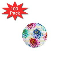 Colorful Dahlias 1  Mini Magnets (100 pack)