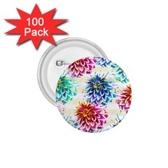 Colorful Dahlias 1 75  Buttons (100 Pack)  by DanaeStudio
