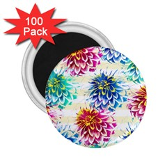 Colorful Dahlias 2.25  Magnets (100 pack)