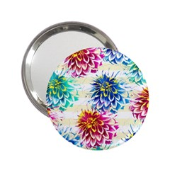 Colorful Dahlias 2.25  Handbag Mirrors