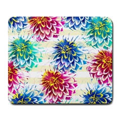 Colorful Dahlias Large Mousepads