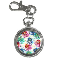 Colorful Dahlias Key Chain Watches