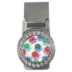 Colorful Dahlias Money Clips (CZ)