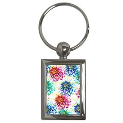 Colorful Dahlias Key Chains (Rectangle)