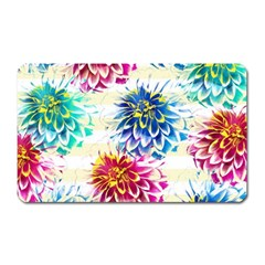 Colorful Dahlias Magnet (Rectangular)