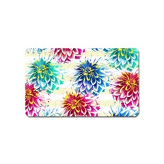 Colorful Dahlias Magnet (Name Card)