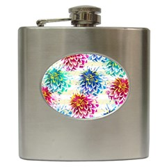 Colorful Dahlias Hip Flask (6 oz)