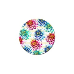 Colorful Dahlias Golf Ball Marker
