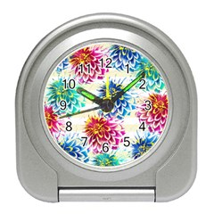 Colorful Dahlias Travel Alarm Clocks