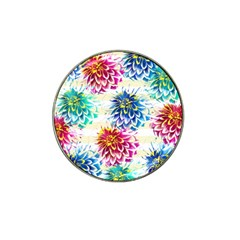 Colorful Dahlias Hat Clip Ball Marker