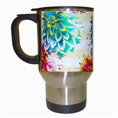 Colorful Dahlias Travel Mugs (White)
