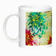 Colorful Dahlias Night Luminous Mugs by DanaeStudio