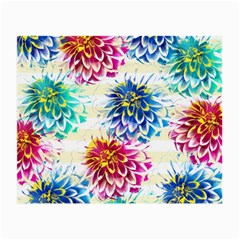 Colorful Dahlias Small Glasses Cloth