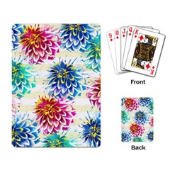 Colorful Dahlias Playing Card by DanaeStudio