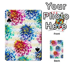 Colorful Dahlias Playing Cards 54 Designs