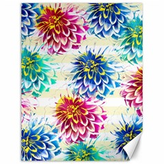 Colorful Dahlias Canvas 12  x 16