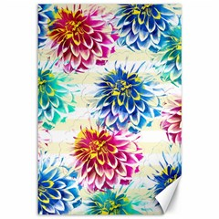 Colorful Dahlias Canvas 12  x 18