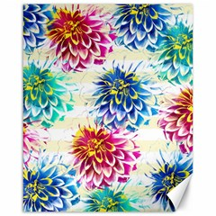 Colorful Dahlias Canvas 16  x 20