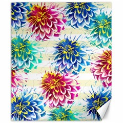 Colorful Dahlias Canvas 20  x 24