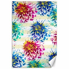 Colorful Dahlias Canvas 24  X 36  by DanaeStudio