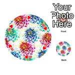 Colorful Dahlias Playing Cards 54 (Round)  Front - Heart8