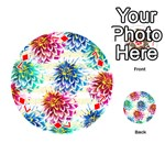 Colorful Dahlias Playing Cards 54 (Round)  Front - Diamond7