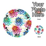 Colorful Dahlias Playing Cards 54 (Round)  Front - Club10