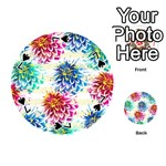 Colorful Dahlias Playing Cards 54 (Round)  Front - Spade7