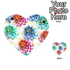 Colorful Dahlias Playing Cards 54 (Heart)