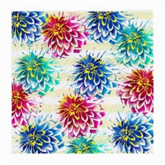 Colorful Dahlias Medium Glasses Cloth