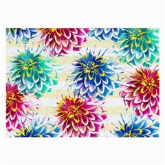 Colorful Dahlias Large Glasses Cloth