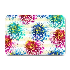 Colorful Dahlias Small Doormat