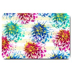 Colorful Dahlias Large Doormat