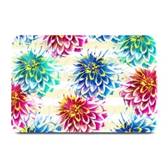 Colorful Dahlias Plate Mats