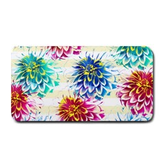 Colorful Dahlias Medium Bar Mats