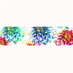 Colorful Dahlias Large Bar Mats