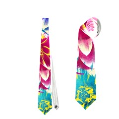 Colorful Dahlias Neckties (one Side)  by DanaeStudio