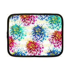 Colorful Dahlias Netbook Case (Small)